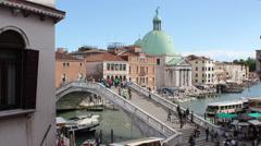 Ponte degli Scalzi Bridge Venice, Italy - Zoom In Stock Footage