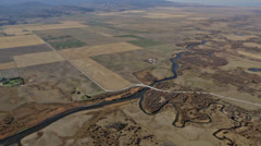 Aerial shot of Snake River in Idaho Stock Footage