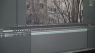 Stock Video Footage of Video Effects Software Color Correction Material
