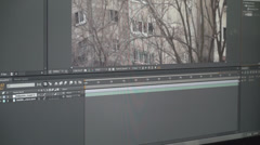 Video Effects Software Preparing Material Stock Footage