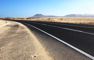 Stock Photo of Road across the desert