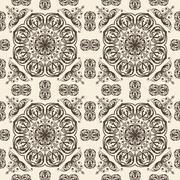 vector seamless floral vintage pattern - stock illustration
