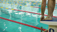 HD - Swimming competition in the Pool. scene02 Stock Footage
