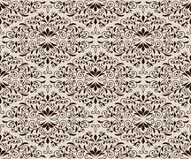 Stock Illustration of vector seamless  vintage floral pattern