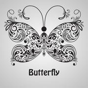 vector butterfly - stock illustration