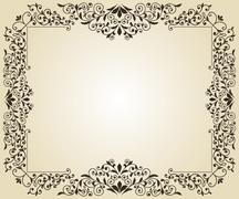 Stock Illustration of vector floral frame