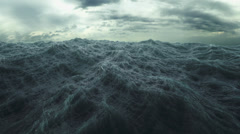 Rough Sea seamless loop. big waves in a stormy ocean. Stock Footage