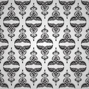 vector seamless  vintage floral pattern - stock illustration
