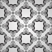 Vector seamless  vintage floral pattern Stock Illustration