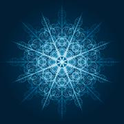 Stock Illustration of vector highly detailed blue snowflake