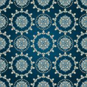 vector seamless eastern pattern - stock illustration