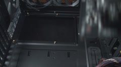 Seating The Motherboard In A PC Case Stock Footage