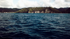 St. Lucia and the Caribbean sea Stock Footage