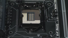 The CPU Socket Close Up Stock Footage
