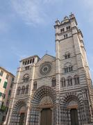 St lawrence cathedral in genoa Stock Photos