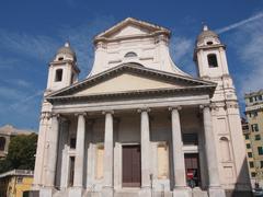Stock Photo of santissima annunziata church in genoa italy