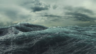 Stock Video Footage of Rough Sea Loop 3D A loop of big waves in an agitated ocean