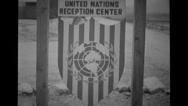 Sign board of United Nations Reception Centre Stock Footage