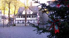 Houses of small German town Monschau. Stock Footage