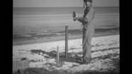 Japanese Mortar Captured At Bougainville, Cable Laying To Paruata Island 4 Stock Footage