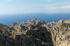 Serra de tramuntana - mountains on mallorca, spain Stock Photos