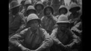 Ethiopian troops sitting Stock Footage