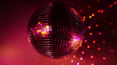 Multicolor disco ball - stock footage