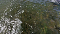 A close-up of river current Stock Footage