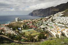 View to Los Gigantes at Tenerife Stock Photos