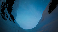 Ice cave star trail timelapse Stock Footage