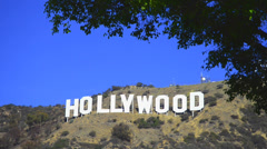Hollywood Sign, the most famous landmark of Los Angeles Stock Footage