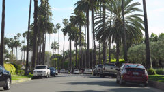 Beverly Hills residential street - stock footage