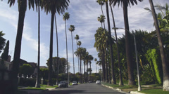 Beverly Hills residential street Stock Footage