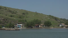 059 Laguna, Fishingboat passing by Stock Footage