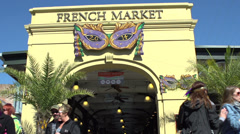 Entrance to French Market in New Orleans Stock Footage