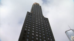 Carbide and Carbon Building - Downtown Chicago - Tilt Down Stock Footage