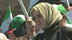 Political supporters of the Free Syrian Army  Stock Footage