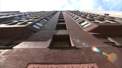 Monadnock Building Sign - Downtown Chicago - Tilt Stock Footage