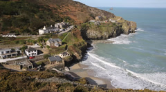 St Agnes North Cornwall England UK Stock Footage