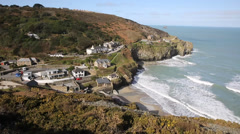 St Agnes Cornwall England UK Stock Footage