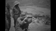 Soldiers doing rifle practice Stock Footage