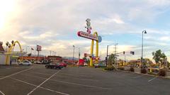 Oldest Working McDonalds Restaurant Wide- Downey California Stock Footage