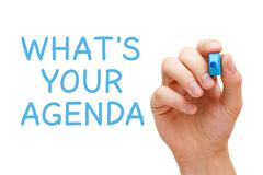 What is your agenda Stock Illustration