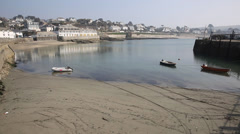 Porthcurnick beach Cornwall England UK Stock Footage