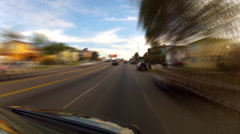 Fast Motion Driving In Los Angeles California Up Ramp To 10 Freeway - stock footage