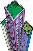 Garden Towers Stock Illustration