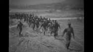Ethiopian troops marching Stock Footage