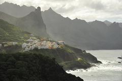 storm on the coast of Tenerife - stock photo