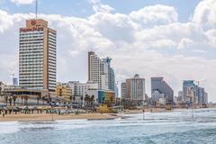 Tel Aviv riviera and hotels - stock photo