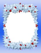 Stock Illustration of christmas holly frame